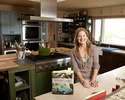 COOKBOOK KITCHEN:  Author Brigit Binns showcases her kitchen where ideas for new cookbooks come to life. - PHOTO BY STEVE E. MILLER