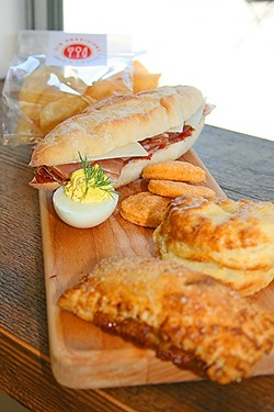 LET'S LUNCH:  Sandwich, deviled egg, chips, etc., are a quick delicious meal. - PHOTO BY HAYLEY THOMAS
