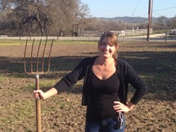 GROWING BUSINESS :  Sarah Worley's Bee Wench Farm provides vegetables and more to people hungry for fresh food and a connection to the hands that grow it. - PHOTO COURTESY OF SARAH WORLEY