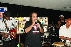 RJ IN THE HOUSE! :  Famed porn star Ron Jeremy was emcee and sat in on harmonica with The Shival Experience. - PHOTOS BY STEVE E. MILLER
