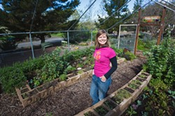 "GROW DINNER:  SLO Botanical Garden Education Director Lindsey Collinsworth invites anyone who has ever wanted to eat their backyard to check out a new month-long series dedicated to creating your own ""outdoor kitchen"" complete with earth oven. - PHOTO BY KAORI FUNAHASHI"
