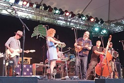 LAST BAND:  Steve Earle and The Dukes closed out this year's Live Oak Music Festival, June 19 through 21 at Camp Live Oak near the Santa Ynez Mountains. - PHOTO BY GLEN STARKEY