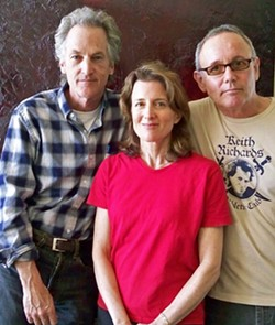 MUSICIANS ON A MISSION:  Ray Duncan (of Ranchers for Peace, left) and husband and wife duo Bob & Wendy will join other performers for a daylong fundraiser for The Wise Owl of Cambria on April 26. Give a hoot! - PHOTO BY MELISSA GOODNIGHT