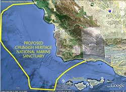 PROPOSED CHUMASH HERITAGE NATIONAL MARINE SANCTUARY: - IMAGE COURTESY OF NORTHERN CHUMASH TRIBAL COUNCIL