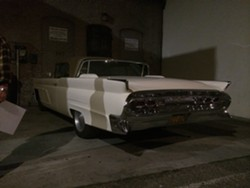 1959 LINCOLN!:  Neil Young's classic 1959 Lincoln was parked in the alley, and after the show, Young and his paramour actress Daryl Hannah got in and sped off into the night, leaving onlookers spellbound. - PHOTO BY GLEN STARKEY