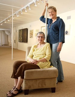 PATRONS OF THE ARTS :  Rosa Lee Sonney and Evani Lupinek are the proud new proprietors of a somewhat-new gallery in Paso Robles. - PHOTO BY STEVE E. MILLER