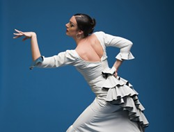 FLAMENCO FEVER!:  Feel the fiery rhythms of authentic flamenco when Savannah Fuentes performs on July 7 at the SLO City Library. - PHOTO BY STEPHEN RUSK