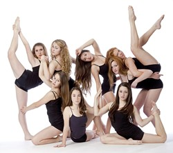 TEEN DREAM :  CORE dancers, aged 14 to 17, hold the Rhythms show together, performing most of the pieces in the program. Young dancers are exposed to tap, jazz, ballet, and theater influences at CORE Dance. - PHOTO BY MICHAEL HIGGINS