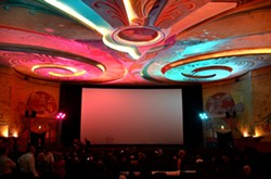 LIGHTS! CAMERA! ACTION!:  The Fremont was aglow in radiant colors for the film festival awards night on Saturday. - PHOTO BY JESSICA PEÑA