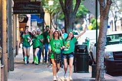 SEE GREEN:  San Luis Obispo has been a well-known place to party during holidays like St. Patrick's Day, Halloween, and Mardi Gras. Be careful, though, because recent years have seen a beefed up police presence and the possibility to enhance penalties for those who break the law. - FILE PHOTO BY KAORI FUNAHASHI