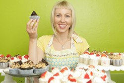 SCRUMPTIOUS :  Amy O'Kane bakes mini-masterpieces with novel flavors - PHOTO BY STEVE E. MILLER