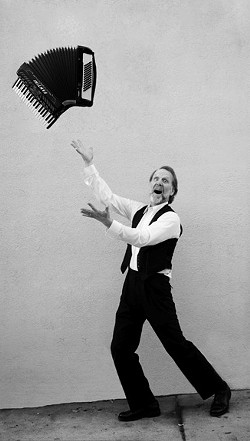 THE WORLD ACCORDION TO DUANE:  Duane Inglish & The Inglishmen (the male members of Café Musique) will play 'A Night to Remember' on Dec. 27—a benefit concert for the Alzheimer's Association of the Central Coast at Last Stage West. - PHOTO COURTESY OF DUANE INGLISH
