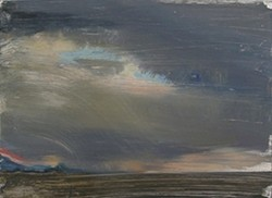 SUNSET OIL ON ALUMINUM : - IMAGE BY MONTSERRAT DAUBON