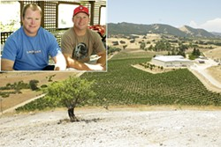 THE NEXT GENERATION:  The Beckett family of Peachy Canyon Winery—including Jake, left, and Josh, right—is focusing on leaving healthy, sustainably farmed vineyards for future generations in a climate-changed world. - PHOTO BY STEVE E. MILLER