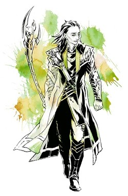 POSTIVELY OBSESSED :  Local artist and manga illustrator Irene Flores, one of four guests of honor at this year's Anime Five Cities convention, will give a panel on digital drawing and share her recent Avengers fan art. Pictured is Flores' take on the character Loki. - ART BY IRENE FLORES