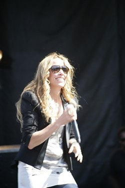 SOUL SISTER :  Sheryl Crow unleashes her charisma on a willing crowd. - PHOTO BY GLEN STARKEY