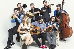 'SPICY ROOTS COCKTAIL':  The Dustbowl Revival will brings its blues, bluegrass, gospel, and Dixieland sounds to SLO Brew on Jan. 9. - PHOTO COURTESY OF DUSTBOWL REVIVAL
