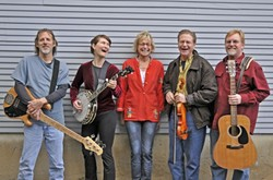 CELEBRATE 100! :  The Appellation Bluegrass Band plays Heritage Square Park's Rotary Bandstand on July 9 as part of Arroyo Grande's centennial celebration. - PHOTO COURTESY OF APPELLATION BLUEGRASS BAND