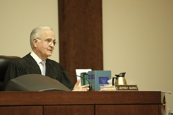 NOT HIS BUSINESS :  SLO County Judge E. Jeffrey Burke said he will not make a medical decision. Instead, on Dec. 11 he'll choose which parent gets to make the medical decision. - PHOTO BY STEVE E. MILLER