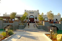 A MOAT AND EVERYTHING! :  Tooth & Nail Winery boasts medieval architecture with modern comforts like lounge seating, exceptional service, and free live music on Friday evenings. - PHOTO BY GLEN STARKEY