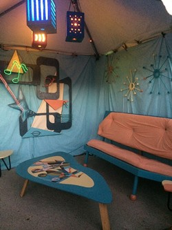 SWANKY!:  This year's backstage theme was '60s space age bachelor pad a la Mad Men. - PHOTO BY GLEN STARKEY