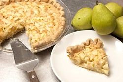 NO COM-PEAR-ISON:  Simple ingredients make for delicious dessert as shown here with Chef Maegen Loring's pear pie. - PHOTO BY STEVE E. MILLER