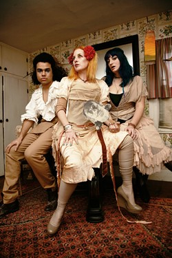 COLONIAL FEDERALISTS :  Rasputina brings cello-driven songs about feral children, Anti-Rent Wars of 1844, early American portraiture, and giants to SLO Brew on July 30. - PHOTO COURTESY OF RASPUTINA