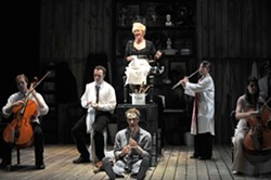 HE WILL HAVE VENGEANCE! :  The cast is the orchestra in John Doyle's wholly re-invented take on Stephen Sondheim's classic tale of revenge—Sweeney Todd—coming to the Cohan Center on Dec. 4. - PHOTO COURTESY OF CAL POLY ARTS