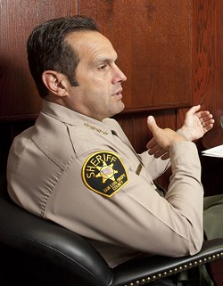 REVOLVING DOOR:  Under the new rules imposed by Proposition 47, SLO County Sheriff Ian Parkinson thinks drug users will have less incentive to seek rehabilitation services, such as those he said became available through the ongoing jail realignment program. - FILE PHOTO BY STEVE E. MILLER