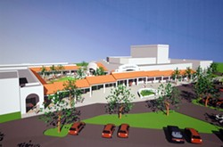 COUNTDOWN :  A rendering of Cuesta College's new Theater Arts Building, slated to open in the fall. - IMAGE COURTESY OF CUESTA COLLEGE
