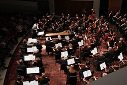 DEFYING GRAVITY :  The SLO Symphony brought its audience to new heights with Debussy's Nocturnes and Holst's The Planets. - PHOTO COURTESY OF LISA NAUFUL