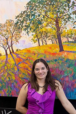 NATURAL HUES:  Erin Hanson paints the Paso Robles landscape as she sees it: pulsing with life and awash in vivacious colors. - PHOTO COURTESY OF ERIN HANSON
