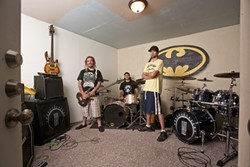 ROOM GALORE :  Wes Price, Billy Gerhardt, and Nathan Jones (left to right), owners of the Sauce Pot rehearsal spaces, showcase the size of the rooms they have for musicians to rent. - PHOTO BY STEVE E. MILLER