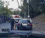 USE OF FORCE:  Justin Silvernale was arrested and charged with 10 felonies and misdemeanors after an incident on Oct. 11, 2014, when Paso Robles police officers Jeffrey DePetro and Michael Rickerd forcefully arrested him, using DePetro's dog in the process. - STILL TAKEN FROM PASO ROBLES POLICE IN-CAR FOOTAGE
