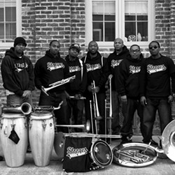 SECOND LINE MADNESS :  New Orleans act the Stooges Brass Band will bring Mardi Gras flair to Live Oak on June 15. - PHOTO COURTESY OF STOOGES BRASS BAND