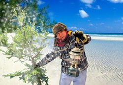 SNOWY BEACH :  Charles, played by David Norum, voyages to Alaska in search of a healing yew tree, in Sarah Ruhl's black comedy The Clean House. - PHOTOS COURTESY OF ANET CARLIN