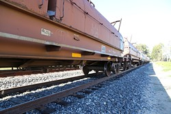 ALL ABOARD:  Railroad companies like Union Pacific are considered common carriers by the federal government and can't refuse to ship hazardous materials if they are packaged within federal regulations. - PHOTO BY DYLAN HONEA-BAUMANN