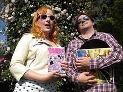 COLLABORATORS! :  Hayley Thomas of Swap! Zine and Patrick Hayes of Twang N Bang have teamed up to deliver a new local band compilation and two shows to promote it, on May 31 at SLO Brew and June 1 at the Z Club. - PHOTO COURTESY OF HAYLEY THOMAS AND PATRICK HAYES