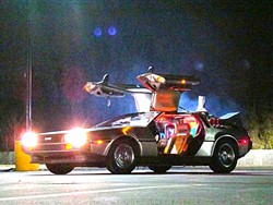 TIME MACHINE!:  Doc Brown's 1985 DeLorean time machine will be on display at the Fremont Theater when all three Back to the Future films are screened on Sept. 26 during a Special Olympics fundraising event. - PHOTO COURTESY OF UNIVERSAL PICTURES AND AMBLIN ENTERTAINMENT