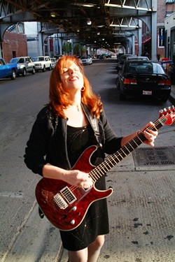 BLOWIN' IN THE FROM THE WINDY CITY :  Chi-town guitarist-vocalist Liz Mandeville and the Blue Points play on April 25 at the SLO Vets Hall. - PHOTO COURTESY OF LIZ MANDEVILLE