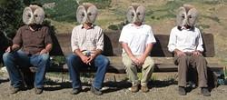 OWL FETISHISTS? :  Jangly, thrumping, hootenastic Santa Barbara owl-fetish quartet Howlin' Woods returns to Frog and Peach on July 23. - PHOTO COURTESY OF HOWLIN' WOODS