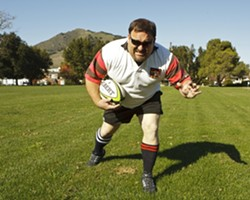SPORTY:  Reggie Greenwood is hoping to help kids on the Central Coast develop a lifelong passion for rugby. - PHOTO BY STEVE E. MILLER