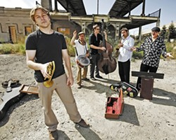 BOUNCY AND JOYOUS :  The California Honeydrops, voted Best R&B/Soul Band by SF Weekly readers, combine New Orleans funky horns with crossroad country blues on May 5 at Frog and Peach. - PHOTO COURTESY OF CALIFORNIA HONEYDROPS