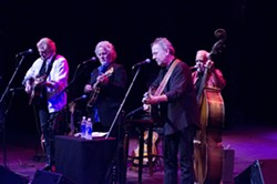 SUPER GROUP!:  Desert Rose Band (with Chris Hillman, Herb Pedersen, John Jorgenson, and Bill Bryson) plays Cal Poly's Spanos Theatre on July 28. - PHOTO BY JOE ATLAS PHOTOGRAPHY