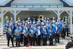 NOW AND THEN :  Two classics are coming together on May 27 when the 138-year-old SLO County Band (pictured in 2011 and in the early 1900s) plays the historic King David's Masonic Lodge. - PHOTO COURTESY OF THE SLO COUNTRY HISTORICAL MUSEUM