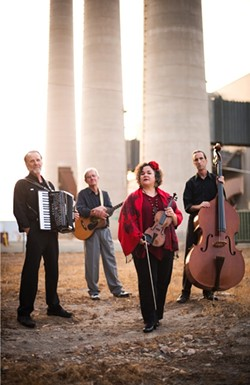 MASTERS OF THE MUSICVERSE! :  (Left to right) Duane Inglish, Craig Nuttycombe, Brynn Albanese, and Fred Murray are Café Musique, who will perform five upcoming local shows with a number of guest artists to promote their third—and best—album. - PHOTO BY BRITTANY APP