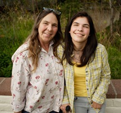 LOOKING UP :  Doctors thought Ivy Alvarado (right) would never even regain consciousness after her heart suddenly failed but now she's regaining motor skills, speech, and her sense of humor. Her mother Melinda Alvarado (left) faces staggering medical bills. - PHOTO BY STEVE E. MILLER