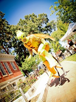CURIOUS CREATURES :  It wouldn't be the Paso Robles Festival of the Arts without an appearance by the Dragon Knights Stiltwalkers, a San Diego-based troupe of performers who transform into magnificent, towering, mythical beings. - PHOTO COURTESY OF STUDIOS ON THE PARK