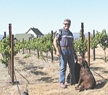 GRAPE ATTACK! :  Author Ken Jones on his ranch with the vines that inspired him to write his most recent book. - IMAGE COURTESY OF KEN JONES