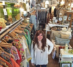 LADY POWER:  Diana Gabriel, owner of Change Of A Dress Consignment Boutique in downtown San Luis Obispo, is among a growing number of female business owners in SLO County, which was recently ranked the sixth best place in the nation for women to own small businesses. - PHOTO BY REBECCA LUCAS